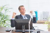 Kaufmann einen großen Erfolg — Stockfoto