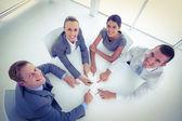 Business-teamet med ett möte — Stockfoto