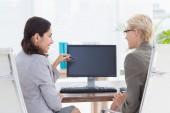 Businesswomen working together — Stock Photo