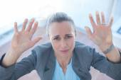 Businesswoman feeling trapped — Stock Photo