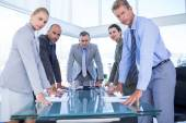 Business colleagues discussing about work — Stock Photo
