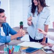 Attentive creative business people in meeting — Stock Photo #76621527
