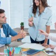 Attentive creative business people in meeting — Stock Photo #76633571