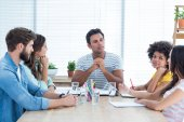 Business people during a meeting — Stock Photo
