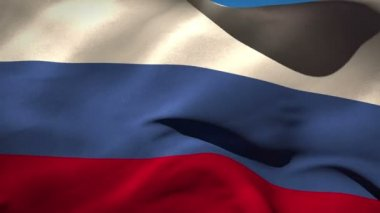 Russia and USA nationals flags in the wind — Stock Video