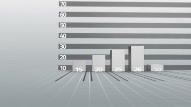 Businessman watching progress graph with arrow — Stock Video