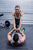Muskuläre paar Übungen Kern — Stockfoto