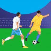 Piłka nożna piłkarze — Wektor stockowy