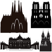 Famous cathedrals — Stock Vector