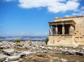 Caryatids in Erechtheum — Stock Photo