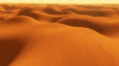 Flight over desert sand dunes — Wideo stockowe