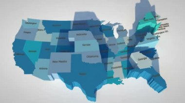 United States map — Stock Video