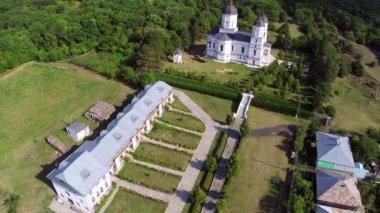 Monastery aerial view — Vídeo de stock