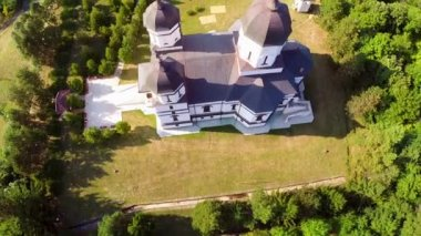 Monastery aerial view — Stock Video