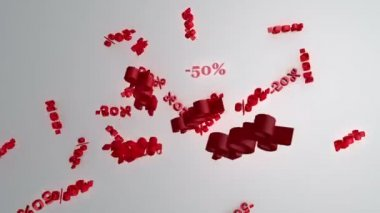Discount of minus fifty percent — Stock Video