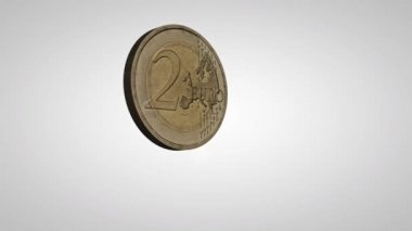 Flipping Euro Coin — Stock Video