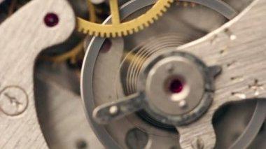 Vecchio meccanismo cronometro — Video Stock