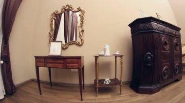 Vintage house sitting room — Stock Video