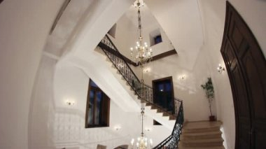 Wrought iron staircase — Stock Video