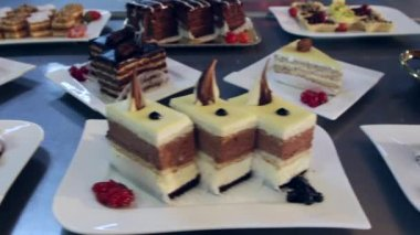 Decorative cakes — Stock Video