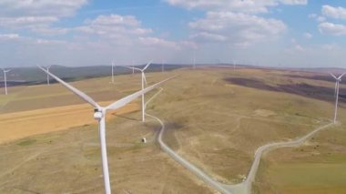 Wind farm aerial — Stock Video