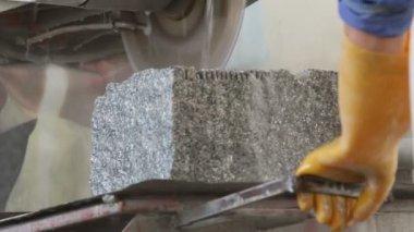 Cutting Stone — Stock Video