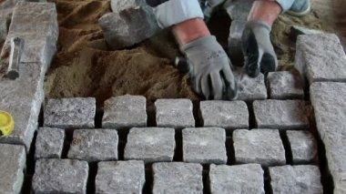 Granite paving — Stock Video