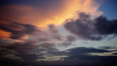 Sunset Clouds Timelapse — Stock Video