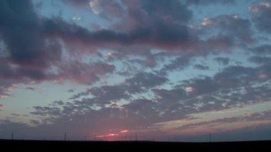 Timelapse облака — Стоковое видео