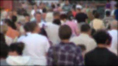 People crowd in blur timelapse — Stock Video