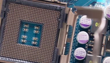CPU socket in motion — Stock Video