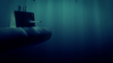 Submarine under death charge attack — Stock Video