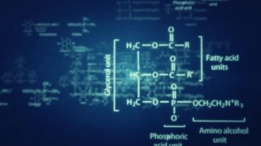 3D chemical formulas animation — Stock Video