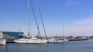 Yacht marina — Stock Video