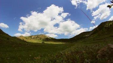 Mountain valley time lapse — Stock Video