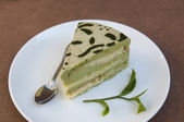 Green tea cake — Stock Photo