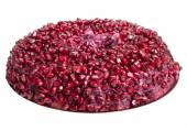 Salad with pomegranate seeds isolated on white background. Shall — Foto Stock