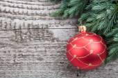 Christmas decoration over wooden background  — Stock Photo