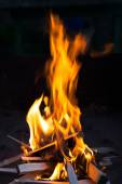 Fire in the night — Stock Photo