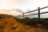 Wooden fence on Cape Roca (cabo da roca) — Fotografia Stock