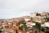 City view from the railway bridge. Porto, Portugal — Stockfoto