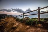Wooden fence on Cape Roca (cabo da roca) — Stock fotografie