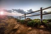 Wooden fence on Cape Roca (cabo da roca) — Stock Photo