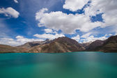 Expanse of Lake Iskander-Kul. Tajikistan. — Stock Photo