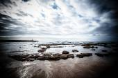 Dramatic Atlantic coast at low tide. Tinted — Stock Photo