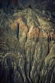 Mountain landscape in fann mountains, Tajikistan. weathered rock — Stockfoto