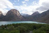 Expanse of Lake Iskander-Kul. Tajikistan — Stock Photo