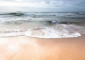 Měkká vlna moře na pláži — Stock fotografie
