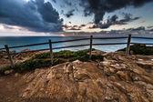 Beautiful sunset over Atlantic Ocean.Tinted — Stock Photo
