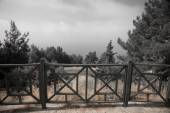 Decorative fence with rise in Alanya Castle. tinted — Stock Photo